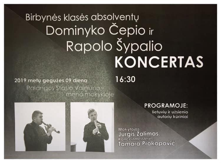 Birbynes absolventu Dominyko ir Rapolo koncertas