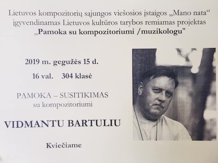 Susitikimas su kompozitorium V. Bartuliu